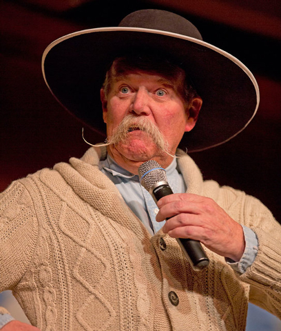"""Cowboy poet Waddie Mitchell performs during the """"Home Means Nevada"""" show during the 30th National Cowboy Poetry Gathering on Monday in Elko. (AP Photo/Elko Daily Free Press, Ross Andreson)"""
