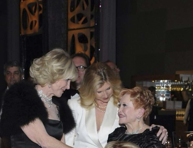 Elaine Wynn, her daughter Kevyn and Nevada Ballet Theatre co-founder Nancy Houssels share a moment after Elaine Wynn's $1 million donation at Saturday's Woman of the Year gala, which raised about  ...