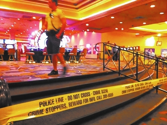 Benjamin Frazier is accused of fatally shooting one man and injuring two security officers at a nightclub inside Bally's on October 21. (Mike Blasky/Las Vegas Review-Journal)