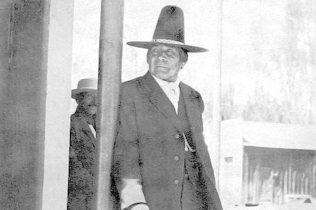 Paiute holy man Wovoka poses for a photograph in Yerington. He took the name Jack Wilson from his adopted father. (Courtesy/Nevada Historical Society)