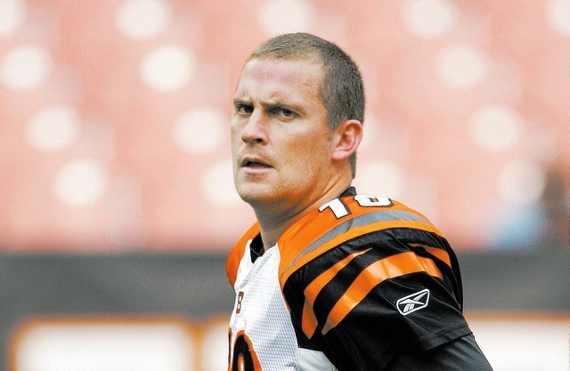 Cincinnati Bengals punter Kevin Huber (10) leaves the field after warmups before the team's NFL football game against the Cleveland Browns on Sunday, Oct. 4, 2009, in Cleveland. (AP Photo/Amy Sanc ...