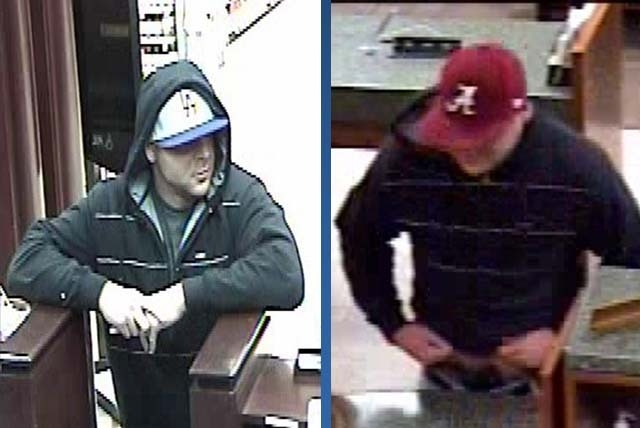 """Police are asking for the public's help in finding a suspect in two bank robberies. The suspect is described as a white male, 24-26 years old, 6'1""""-6'3"""", 180-200 lbs. with brown hair. He ..."""