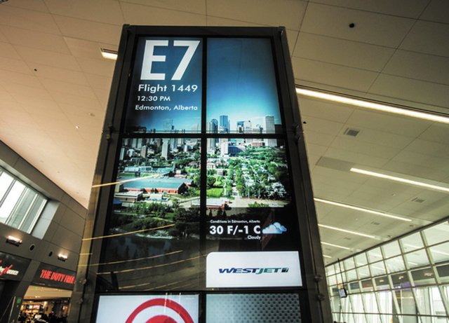WestJet Airlines gates at McCarran International Airport had more than 1 million people pass through in 2013, helping boost overall passenger gains at the airport. (Jeff Scheid/Las Vegas Review-Jo ...