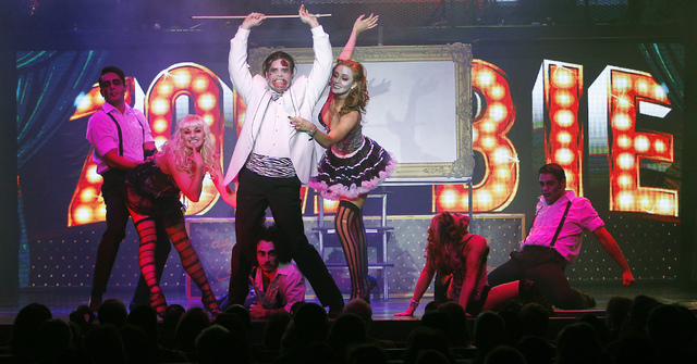 """Zombie Burlesque,"" at the V Theater in the Miracle Mile Shops at Planet Hollywood, offers a taste of how ""Cabaret""-with-zombies would mash up. (Jason Bean/Las Vegas Review-Journal)"