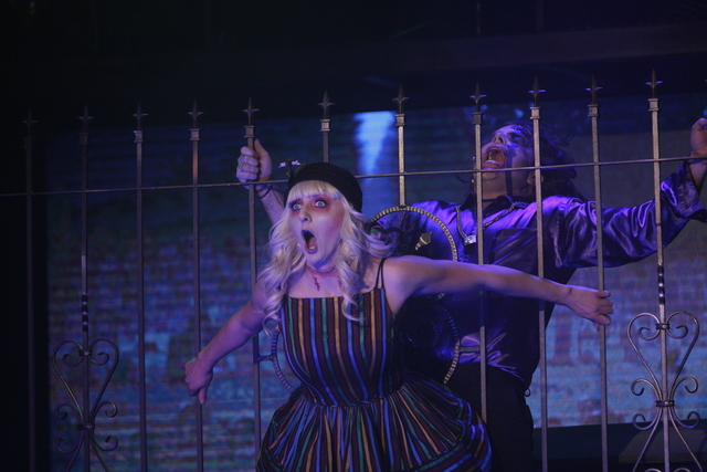 """Zombie Burlesque,"" at the V Theater in the Miracle Mile Shops at Planet Hollywood, takes place during a 1950s era of truce between humans and zombies. (Jason Bean/Las Vegas Review-Journal)"