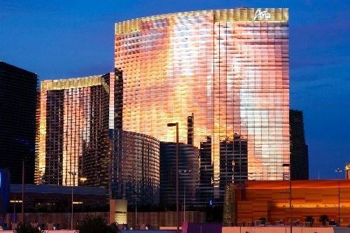 The Aria hotel-casino is seen in a file photo. (Duane Prokop/Review-Journal File)
