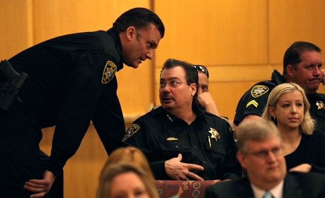 Las Vegas Township Constable John Bonaventura, center. (File, Las Vegas Review-Journal)