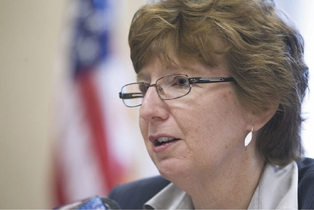 Legal Aid Executive Director Barbara Buckley (Review-Journal File Photo)