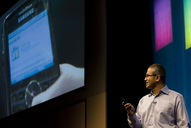 Satya Nadella demonstrates some of the features of Live Search during the advance08 Advertising Leadership Forum in 2008. Microsoft announced Tuesday that Nadella will replace Steve Ballmer as its ...
