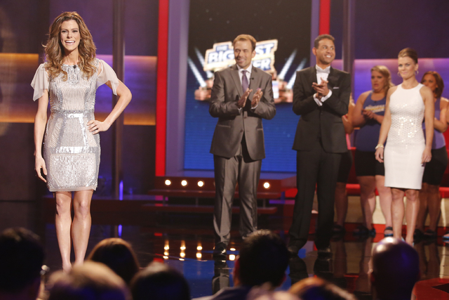 "Rachel Frederickson, left, David Brown, Bobby Saleem and host Alison Sweeney were part of the finale of ""The Biggest Loser"" Tuesday in Los Angeles. A day after her grand unveiling on NBC, Fredrick ..."