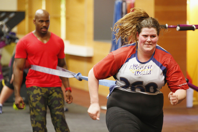 "Contestant Rachel Frederickson competes during the first episode of ""The Biggest Loser."" Fredrickson lost nearly 60 percent of her body weight to win on Tuesday and pocket $250,000. A day after he ..."