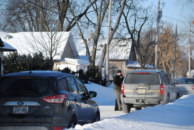 Town of Beloit Police, Rock County Sheriff's Office and FBI agents were all on the scene Thursday, Feb. 6, 2014, in the 800 block of Homeland Court to investigate a report of a missing baby, 5-day ...