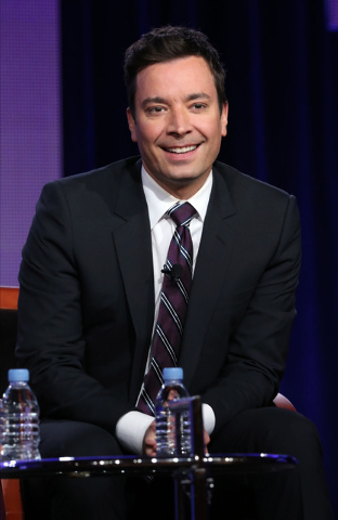 """File-This photo released by NBC shows Jimmy Fallon who will be the new host of """"Tonight Show Starring Jimmy Fallon"""".  Fallons departure from Late Night on Friday, Feb. 7, 2014, after five years in ..."""
