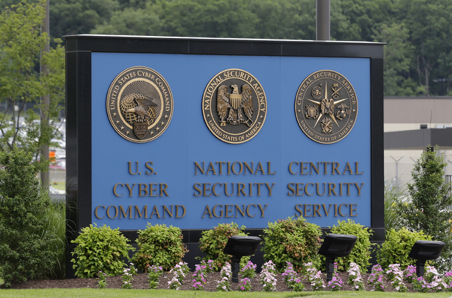 This June 6, 2013 file photo shows the sign outside the National Security Agency (NSA) campus in Fort Meade, Md. Compared with their more moderate Republican or Democratic peers, tea party support ...
