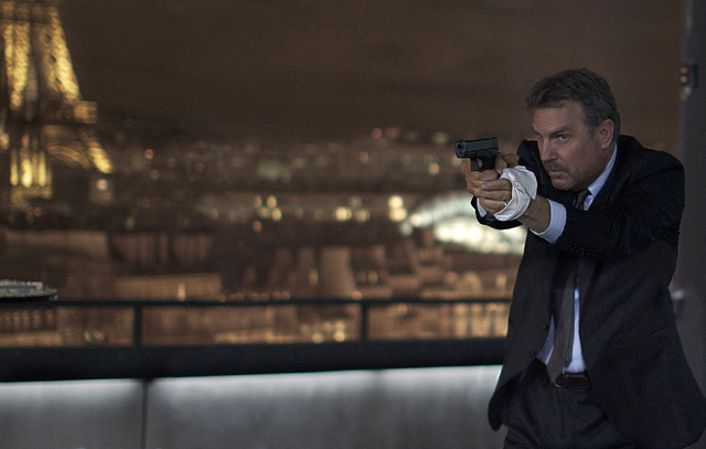 """This image released by Relativity Media shows Kevin Costner in a scene from """"3 Days to Kill."""" (AP Photo/Relativity Media, Julian Torres)"""