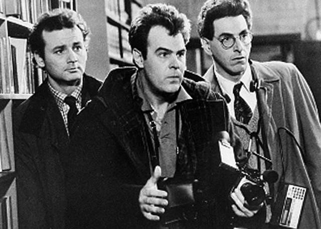 "Bill Murray, left, Dan Aykroyd and Harold Ramis appear in a scene from the 1984 movie ""Ghostbusters."" Ramis died early Monday in Chicago. He was 69. (AP Photo, file)"