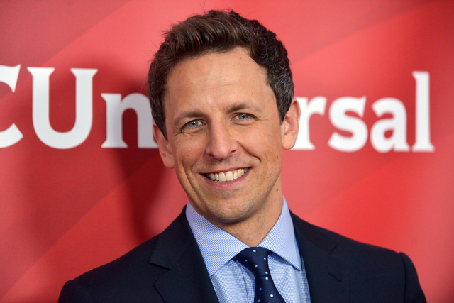 "Seth Meyers debuts as the host of ""Late Night with Seth Meyers"" on Monday. (Richard Shotwell/Invision/AP/File)"