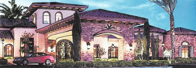 This artist's rendering depicts Vivaldi Residences, a proposed facility for Alzheimer's patients in a rural Henderson neighborhood.  Courtesy of Daniel Boucher