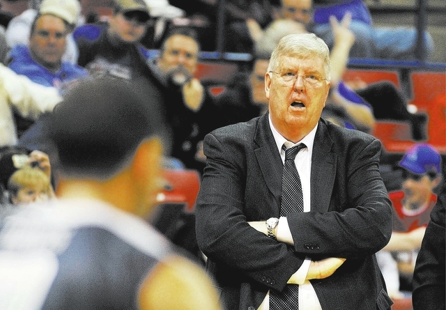 Utah State coach Stew Morrill has claimed 599 victories in 28 seasons, and Utah State is 236-25 under him on its home floor. (AP Photo/Kita Wright)
