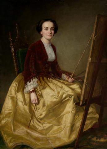 """George Peter Alexander Healy's """"Mrs. Charles Morey,"""" painted in 1855, is part of the """"Painting Women"""" exhibit at the Bellagio Gallery of Fine Art. (Courtesy)"""