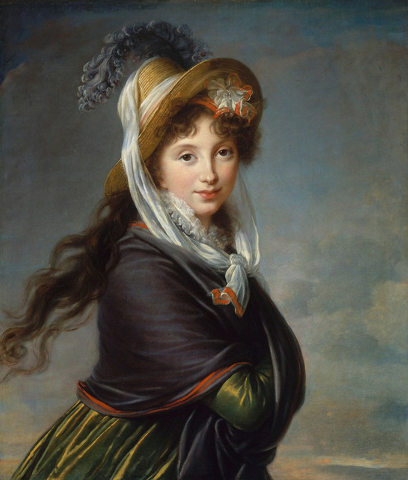 """""""Portrait of a Young Woman"""" by Marie Louise Elisabeth Vigee-Le Brun is one of the oldest paintings in the exhibit, dating to about 1797. (Courtesy)"""