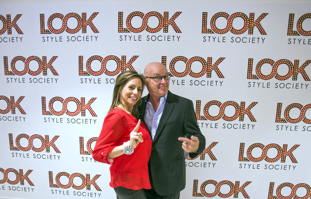 Kimberly Stuhmer, left, brand manager for Look Style Society and Kurt Garehime, president of Sam Villa's Hairshow and Allvus LLC at Look Style Society, 6539 Las Vegas Boulevard South,  in Town Squ ...