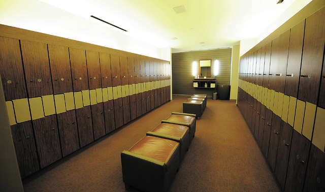 The locker rooms are seen at the Canyon Ranch Spa in the Palazzo hotel-casino in Las Vegas, Thursday, Feb. 7, 2014. (Jerry Henkel/Las Vegas Review-Journal)