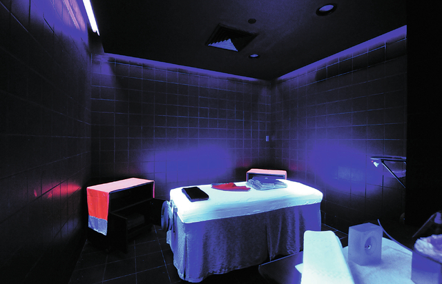 An ultraviolet massage room is seen at the Canyon Ranch Spa in the Palazzo hotel-casino in Las Vegas, Thursday, Feb. 7, 2014. (Jerry Henkel/Las Vegas Review-Journal)