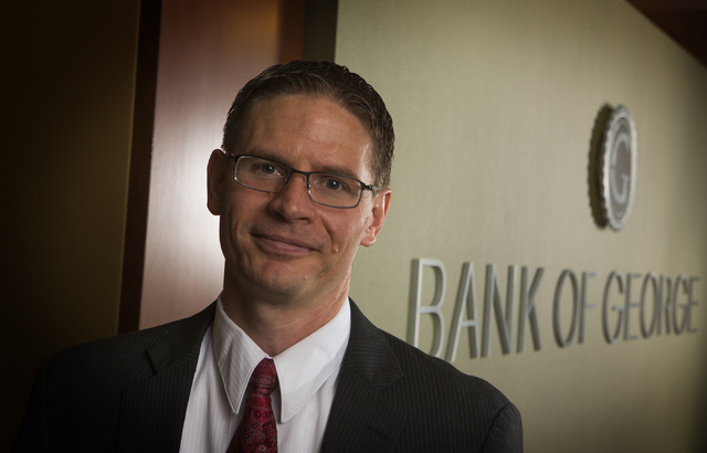 T. Ryan Sullivan, recently named CEO and president of the Bank of George, as seen Friday, Sept. 20, 2013 at the company headquarters on 9115 West Russell Road.(Jeff Scheid/Las Vegas Review-Journal)