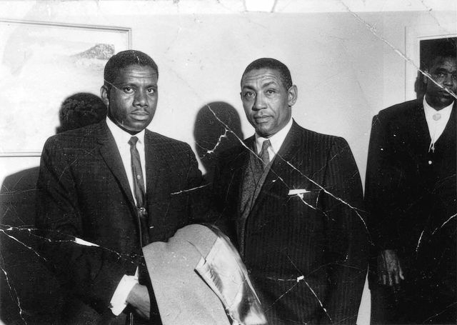 Charles Kellar, Donald Clark before a meeting with Gov. Grant Sawyer in 1961