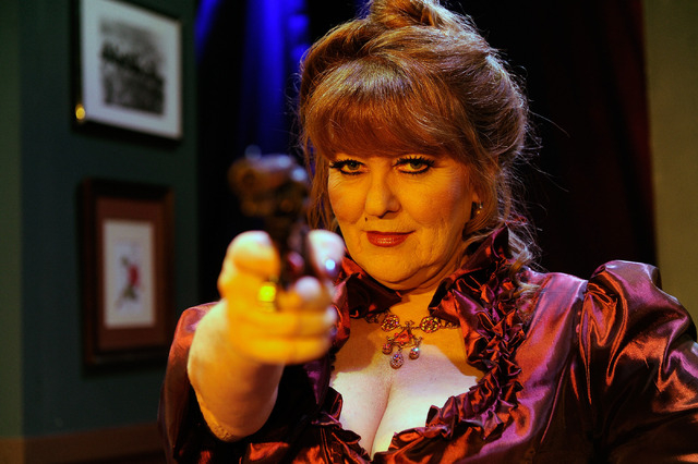 """Kellie Wright portrays Madame Ranevskaya in """"Anton Chekhov's 'Cherry Orchard of the Living Dead,' """" opening this weekend at the Onyx Theatre. (David Becker/Las Vegas Review-Journal)"""