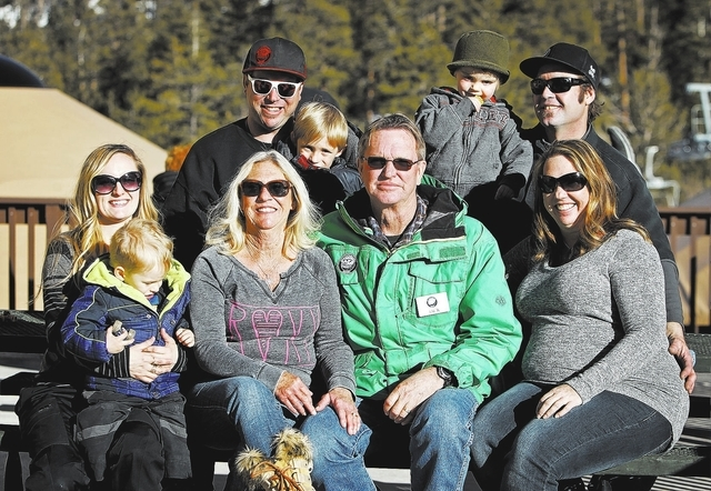 The Bean family owns and operates the Las Vegas Ski and Snowboard Resort on Mount Charleston outside of Las Vegas. Front row from left, Stephanie Bean, two-year-old Ryder Bean, Monetta Bean, Jack  ...