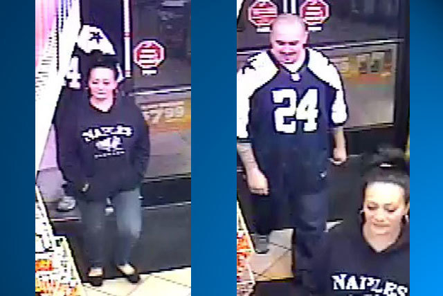 Las Vegas police are searching for these suspects in a convenience store robbery and attack Tuesday near Maryland Parkway and Pyle Avenue that left the store clerk in critical condition. (Courtesy ...