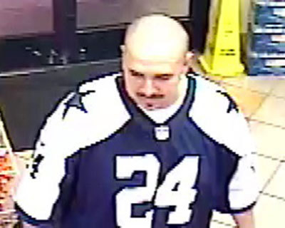 Las Vegas police are searching for this suspect in a convenience store robbery and attack Tuesday near Maryland Parkway and Pyle Avenue that left the store clerk in critical condition. (Courtesy/L ...