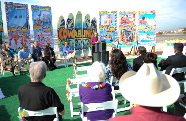 The Cowabunga Bay Water Park held its groundbreaking for the park in Henderson on Tuesday, Dec. 4, 2012. (Jacob Kepler/Las Vegas Review-Journal)
