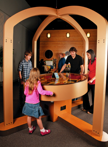 "Amazing Maze, a steel ball labyrinth game in which guests must work together to tilt a table to guide a ball into six holes as quickly as possible, is part of the new ""Mindbender Mansion"" trav ..."