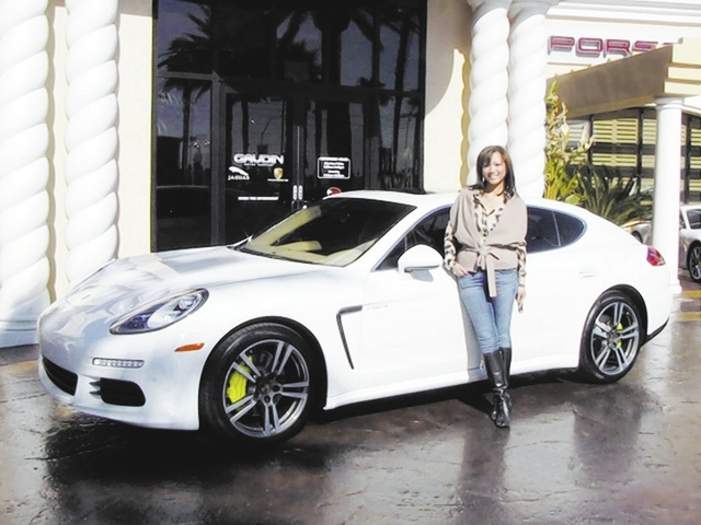 Courtesy Photo Tina Eschweiler Stands Next To Her 2017 Panamera Electric Plug In Hybrid