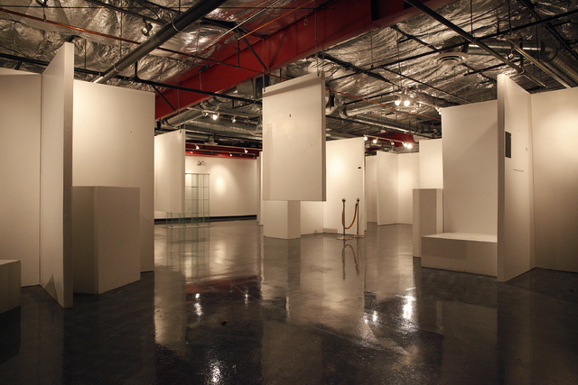 Walls that held art are now bare at the Erotic Heritage Museum in Las Vegas Thursday, Feb. 20, 2014. The museum has closed down. (John Locher/Las Vegas Review-Journal)