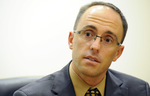 Jon M. Hager, executive director of the Silver State Health Insurance Exchange speaks in an interview at the Review-Journal on Thursday, Sept. 19, 2013.  (Mark Damon/Las Vegas Review-Journal)
