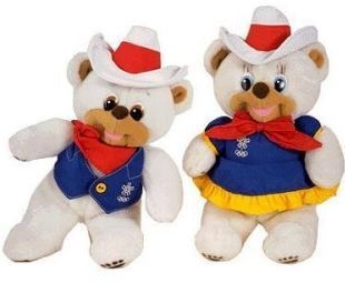 Hidy and Howdy, the 1988 Calgary Olympic mascots, were polar bears, symbolic of the Arctic regions located in the north of the American continent. They wore Western-style hats and outfits. (Intern ...