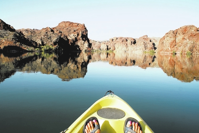One of the best ways to enjoy the birds and other wildlife in Topock Gorge is by a kayak. (DEBORAH WALL/SPECIAL TO VIEW)