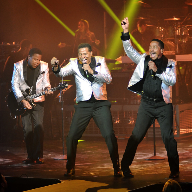 Tito, left, Jackie, center, and Marlon Jackson perform in the Planet Hollywood Showroom at 3667 Las Vegas Blvd., South, in Las Vegas on Saturday, Feb. 22, 2014. (Bill Hughes/Las Vegas Review-Journal)