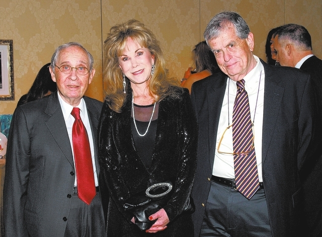 MARIAN UMHOEFER/REVIEW-JOURNAL Art Marshall, from left, Bonnie Saunders and honoree, Aaron Ciechanover