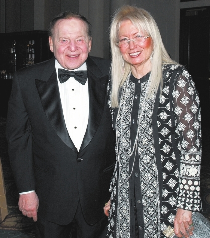 MARIAN UMHOEFER/REVIEW-JOURNAL Sheldon and Miriam Adelson