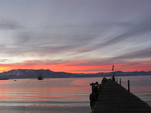 Lake Tahoe is shown at sunset in this undated photo. (COURTESY)