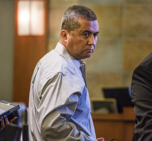 Armando Vergara-Martinez is shown during a break in jury selection at Clark County District Court on Monday. Vergara-Martinez is accused of attacking Maria Del Carmen Gomez with a machete, cutting ...