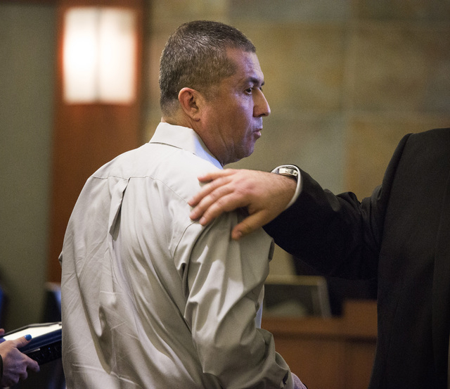 Armando Vergara-Martinez is shown during a break in jury selection at Clark County District Court on Monday. Vergara-Martinez is accused of attacking  Maria Del Carmen Gomez with a machete in a 20 ...