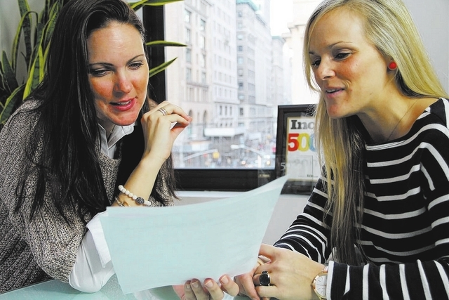 Marcie Wechsler, left, temporary division executive director at Atrium Staffing in New York, says that taking care of temporary associates is essential to staffing firm success. She and Allie Basi ...