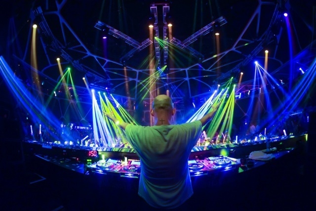 Moby, legend,  returns to Hakkasan. (Courtesy, Powers Imagery)
