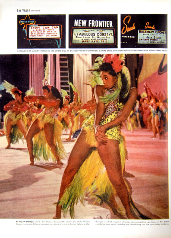 The Moulin Rouge featured in  Life Magazine article, issue date June 20, 1955. copy by Bob Brye.  (Courtesy Las Vegas News Bureau)